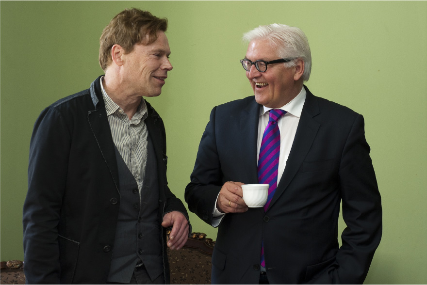 Marc Kayser mit dem Bundesminister für Auswärtiges Frank-Walter Steinmeier